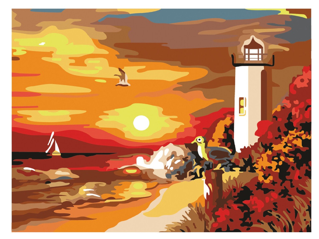 Картина по номерам Остров Сокровищ Морской закат 662498