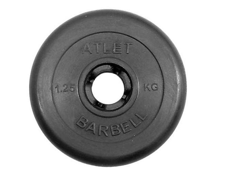 Диск обрезиненный Atlet MB d-31 1.25kg 28266402