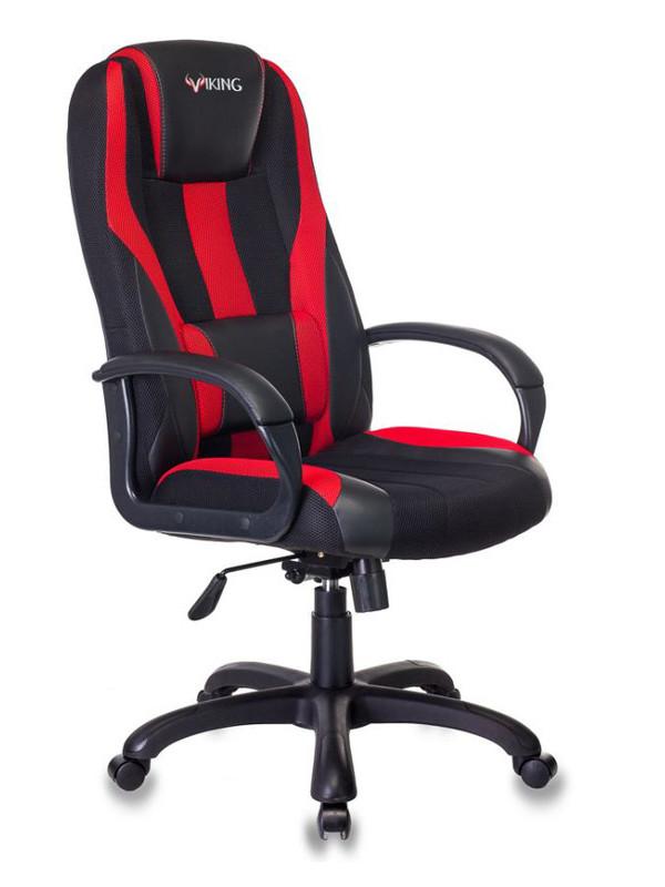 Фото - Компьютерное кресло Бюрократ Viking-9 Black-Red /BL+RED Выгодный набор + серт. 200Р!!! компьютерное кресло chairman game 17 black grey 00 07024558 выгодный набор серт 200р