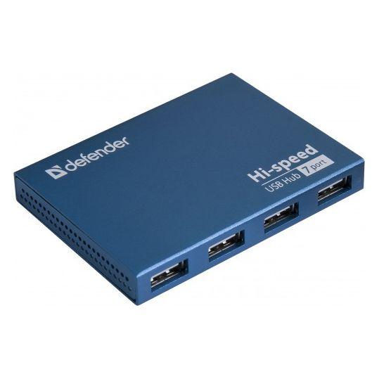 Хаб USB Defender Septima Slim USB 7-ports 83505