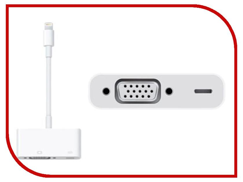 Аксессуар APPLE Lightning to VGA Adapter MD825ZM/A