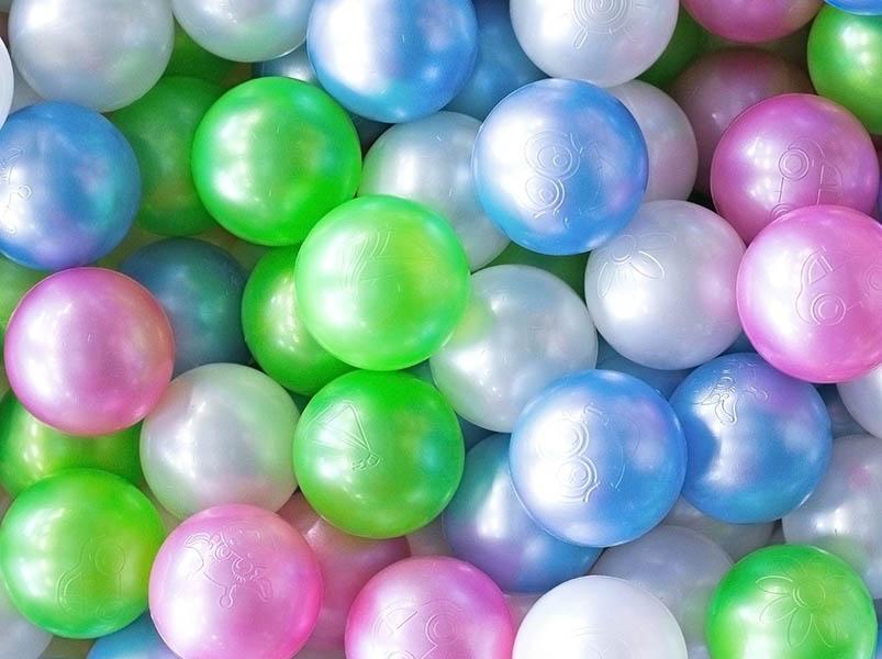 Игровой центр Крошка Я Набор шариков Перламутровые 7.5cm 100шт 2390634 подарочный набор крошка я карамелька