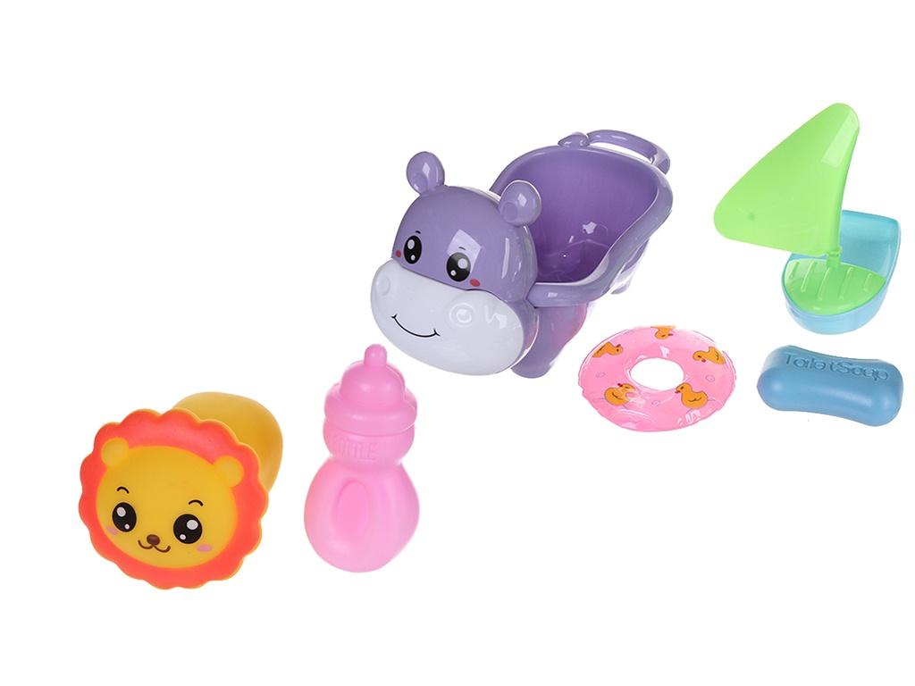Набор игрушек Крошка Я Ванночка-Бегемотик 4567374 подарочный набор крошка я карамелька