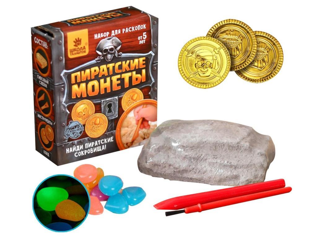 Игра Школа талантов Набор для раскопок. Пиратские монеты 4064769
