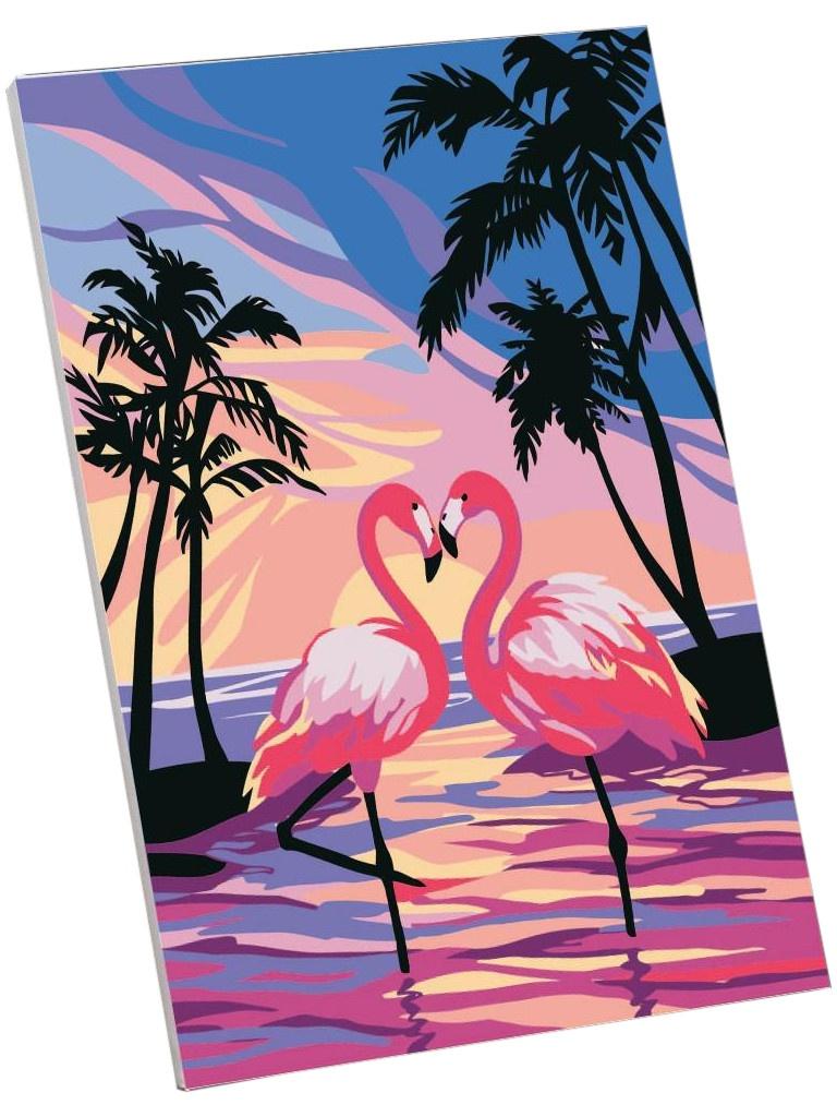 Картина по номерам Школа талантов Фламинго на закате 30x20cm 5177161