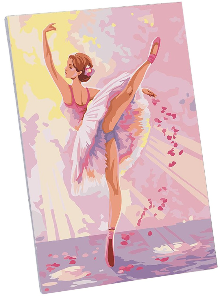 Картина по номерам Школа талантов Балерина 20x30cm 5222631