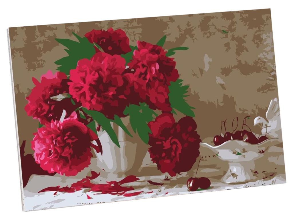 Картина по номерам Школа талантов Розовые пионы 30x20cm 5177173 недорого
