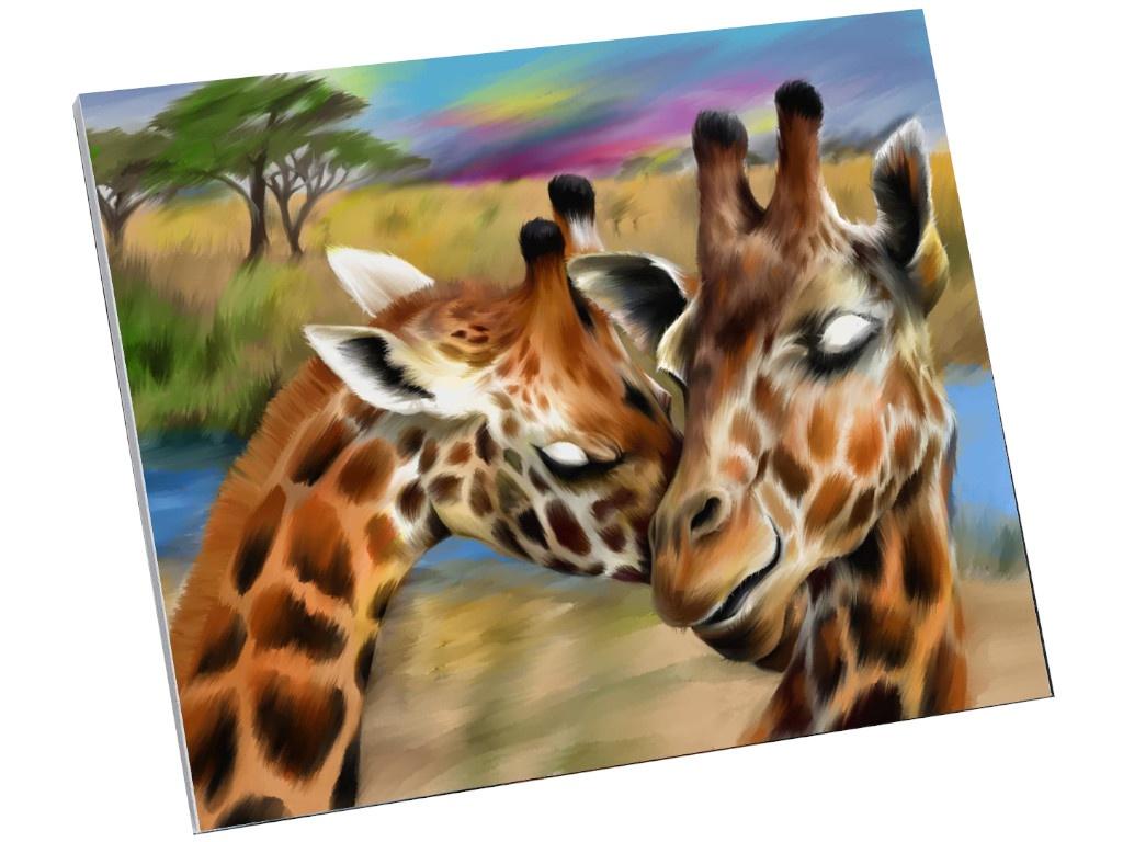 Картина по номерам Школа талантов Жирафы. Нежность 40x50cm 5248141