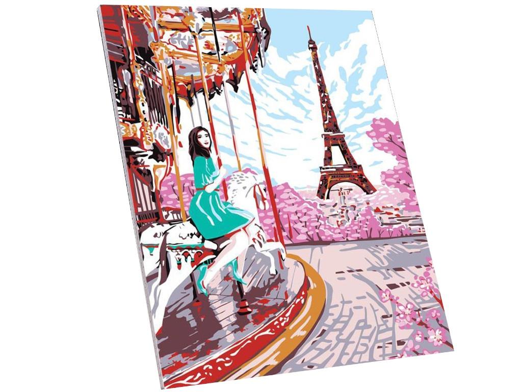 Фото - Картина по номерам Школа талантов Девушка в Париже 40x50cm 4971868 картина по номерам школа талантов мона лиза леонардо да винчи 40x50cm 5135000
