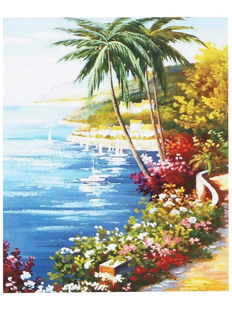 Картина по номерам Школа талантов Пальмы на берегу 30x40cm 5095921