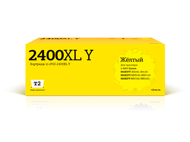 Картридж T2 IC-CPGI-2400XL Yellow для Canon Maxify iB4040/iB4140/MB5040/MB5140/MB5340/MB5440