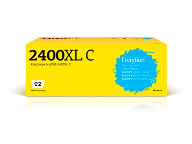 Фото - Картридж T2 IC-CPGI-2400XL Cyan для Canon Maxify iB4040/iB4140/MB5040/MB5140/MB5340/MB5440 картридж t2 ic cpgi 520bk совместимый