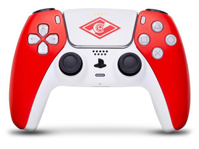 Геймпад Rainbo DualSense Спартак Red-White для PS5