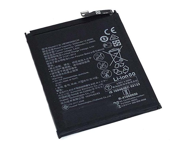 Аккумулятор Vbparts (схожий с HB396285ECW) для Huawei Honor 10 3.82V 3400mAh 073771