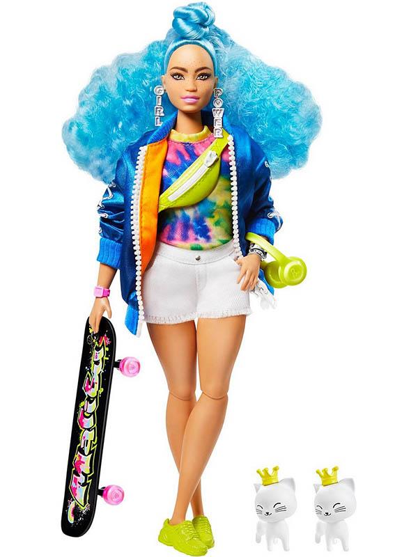 Кукла Mattel Barbie Экстра с голубыми волосами GRN30