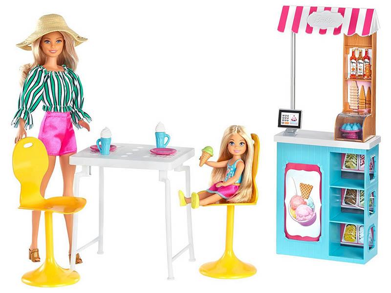 Кукла Mattel Barbie Магазин кафе мороженое GBK87