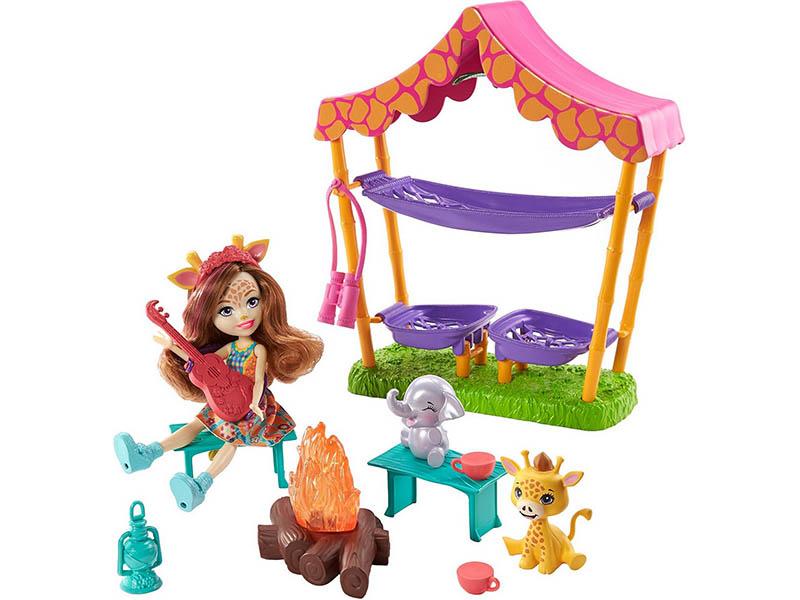 Фото - Кукла Mattel Enchantimals Пижамная вечеринка в Саванне GTM33 кукла mattel cave club® роралай пижамная вечеринка gth01