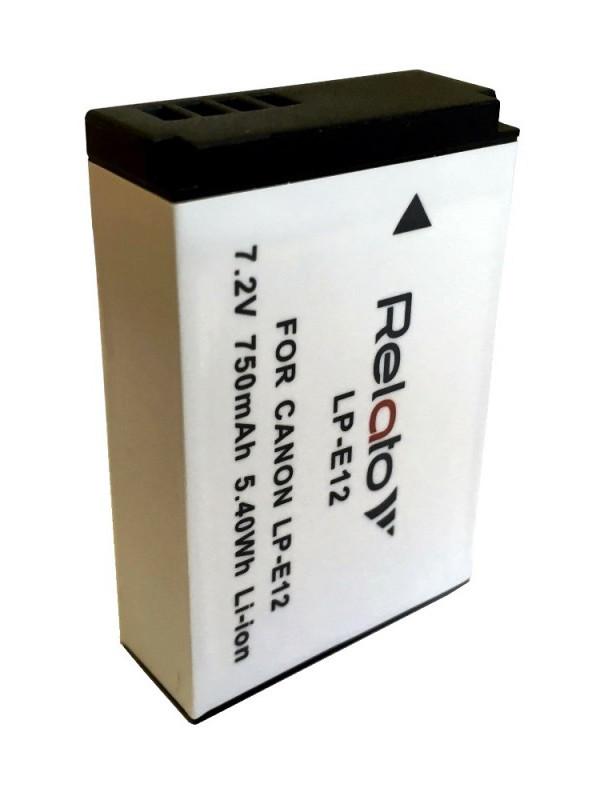 Фото - Аккумулятор Relato LP-E12 для Canon EOS 100D/ EOS M / EOS M10/ M200/ M50 аккумулятор relato bp 511a для canon powershot g1 g2 g3 g5 g6 pro90 is pro1 eos 30d eos 300d eos 40d eos 5d eos 50d digital rebel 10d 20d 20da 5d d30 d60 mv 30i 300 series 400 series 500 series 600 series 700 series mvx 3i 100i 150