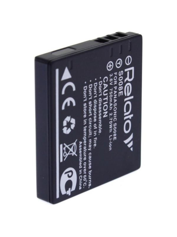 Аккумулятор Relato S008E для Panasonic DMC-FX30/ FX33/ FX35/ FX37/ FX500/ FX55/ FS3/ FS5/ FS20
