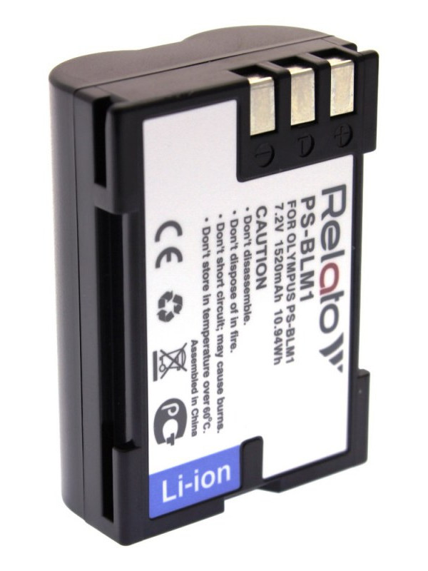 Фото - Аккумулятор Relato PS-BLM1 для Olympus C-5060WZ/ 7070WZ/ 8080WZ/ E-1/ E-3/ E-300/ E-330/ E-500/ E-510/ E-520 e vee мюлес и сабо