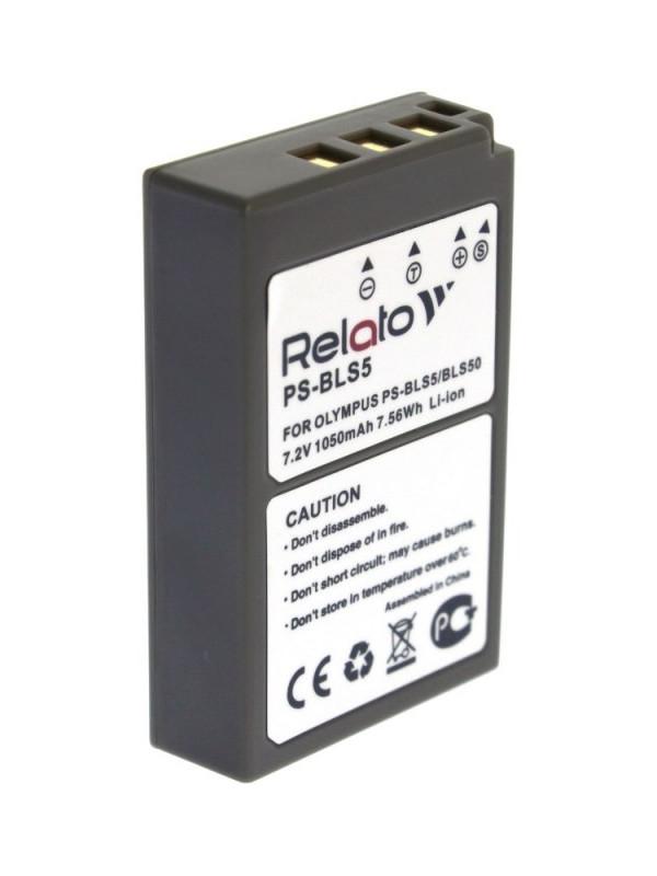 Аккумулятор Relato PS-BLS5 для Olympus E-PL2/ E-PL5/ PEN E-PM2/ OM-D E-M10/ E-M10 II/ Stylus 1