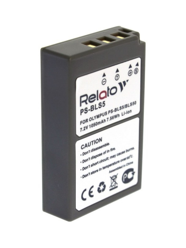 Фото - Аккумулятор Relato PS-BLS5 для Olympus E-PL2/ E-PL5/ PEN E-PL2/ E-PM2/ PEN E-PL5/ PEN E-PM2/ OM-D E-M10/ OM-D E-M10 II/ Stylus 1 e vee мюлес и сабо