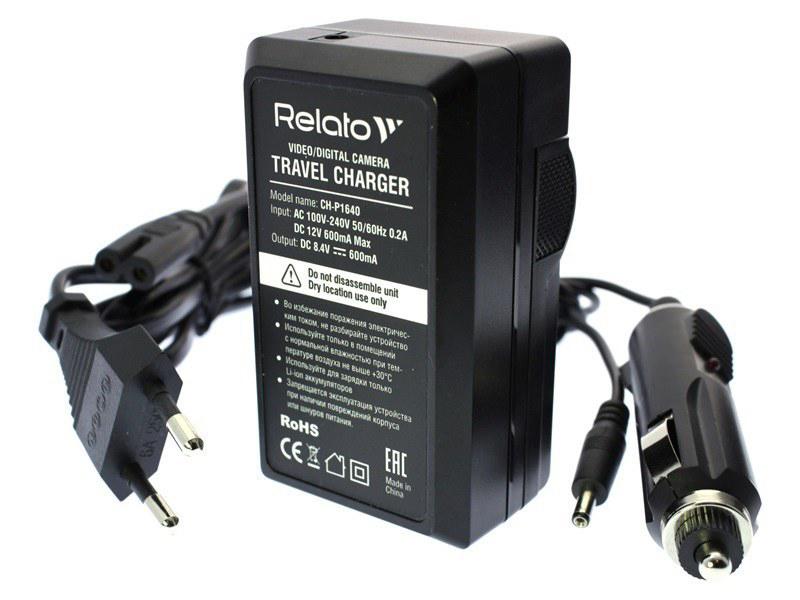 Фото - Зарядное устройство Relato CH-P1640/ NB2L для Canon NB-2L зарядное устройство acmepower ap ch p1640 for panasonic dmw bcf10 s500e bcj13 bck7 авто сетевой