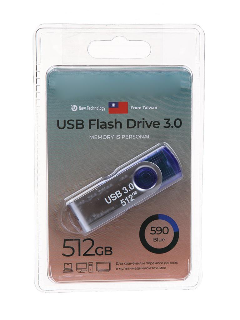 USB Flash Drive 512Gb - Exployd 590 3.0 EX-512GB-590-Blue