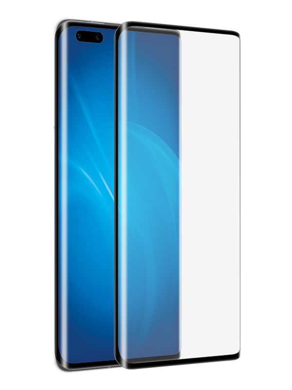 Закаленное стекло DF для Huawei Mate 40 Pro Full Screen 3D Black Frame hwColor-125