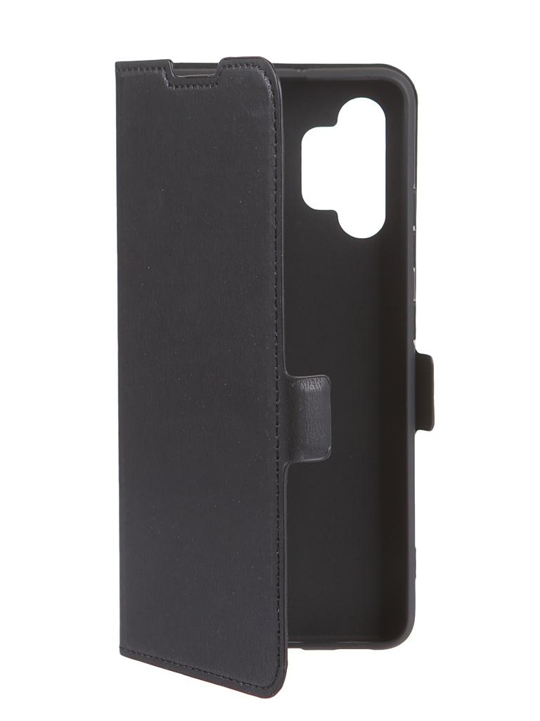 Чехол DF для Samsung Galaxy A32 (4G) Black sFlip-83