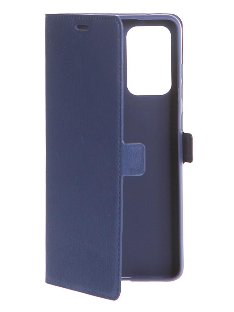 Чехол DF для Samsung Galaxy A72 (4G/5G) Blue sFlip-86