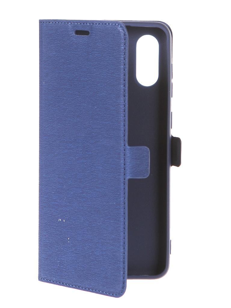 Чехол DF для Samsung Galaxy A02 Blue sFlip-85