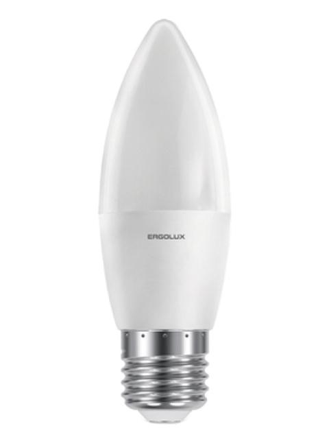 Фото - Лампочка Ergolux E27 11W 220V 6500K 1070Lm LED-C35-11W-E27-6K 13623 светодиодная лампа ergolux led g45 11w e27 6k упаковка 10 шт