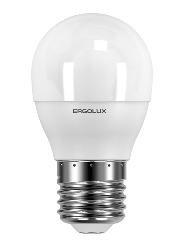 Лампочка Ergolux E27 7W 220V 6500K 680Lm LED-G45-7W-E27-6K 12877