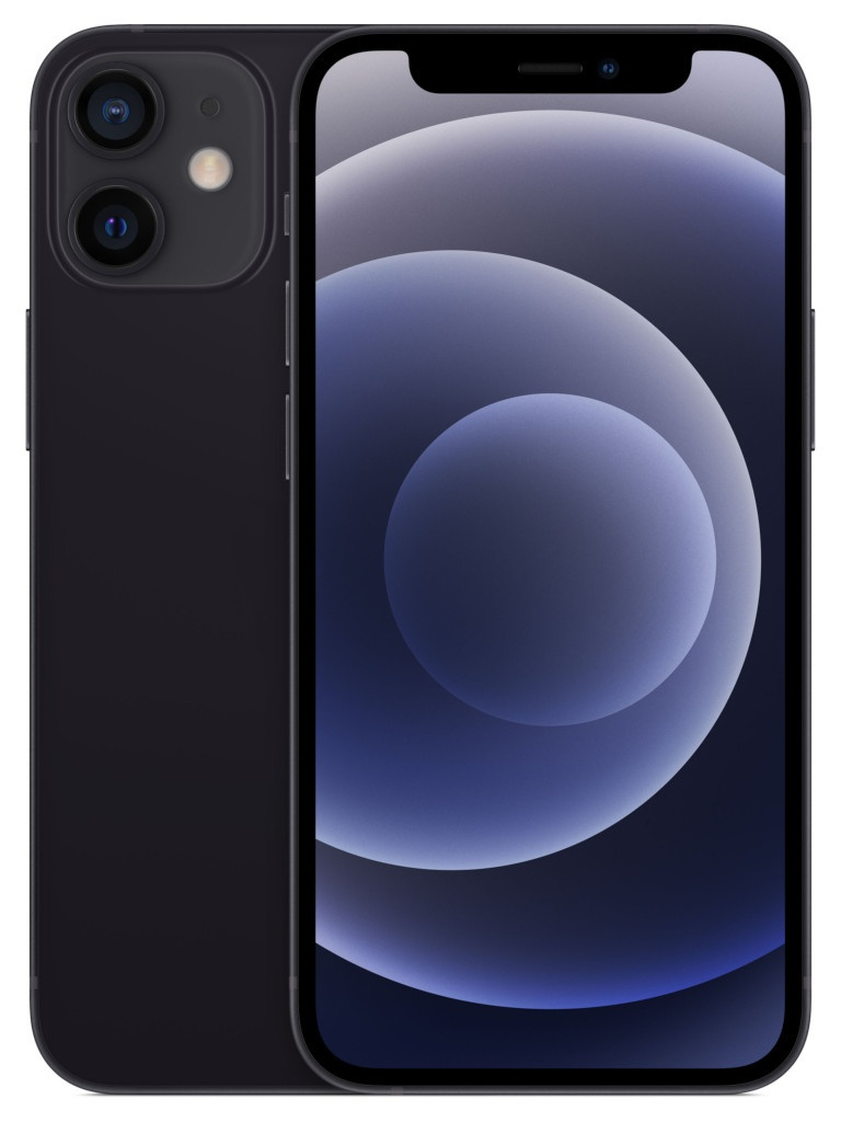 Сотовый телефон APPLE iPhone 12 Mini 128Gb Black MGE33RU/A Выгодный набор для Selfie + серт. 200Р!!!