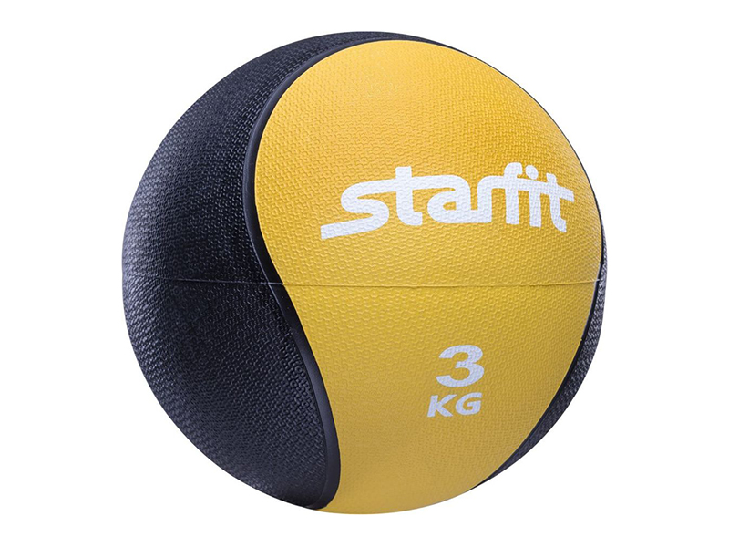 Медбол Starfit Pro GB-702 22.8cm Yellow-Black УТ-00007300