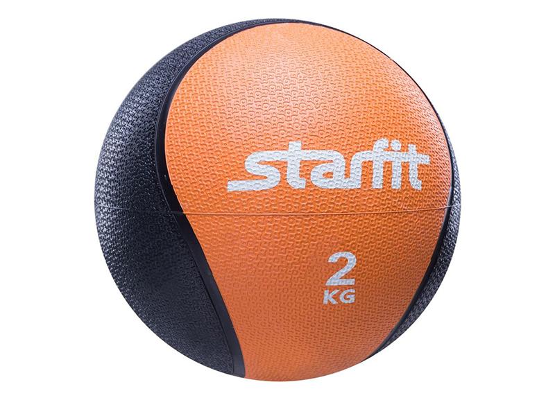 Медбол Starfit Pro GB-702 18.8cm Orange-Black УТ-00007299 упоры для отжимания starfit ba 304 black orange ут 00016658