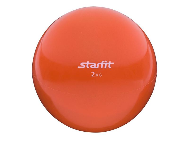 Медбол Starfit GB-703 14cm Orange УТ-00008273 упоры для отжимания starfit ba 304 black orange ут 00016658