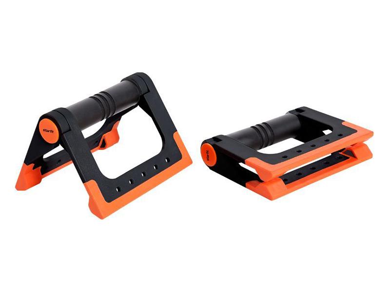 Упоры для отжимания Starfit BA-304 Black-Orange УТ-00016658 упоры для отжимания starfit ba 304 black orange ут 00016658