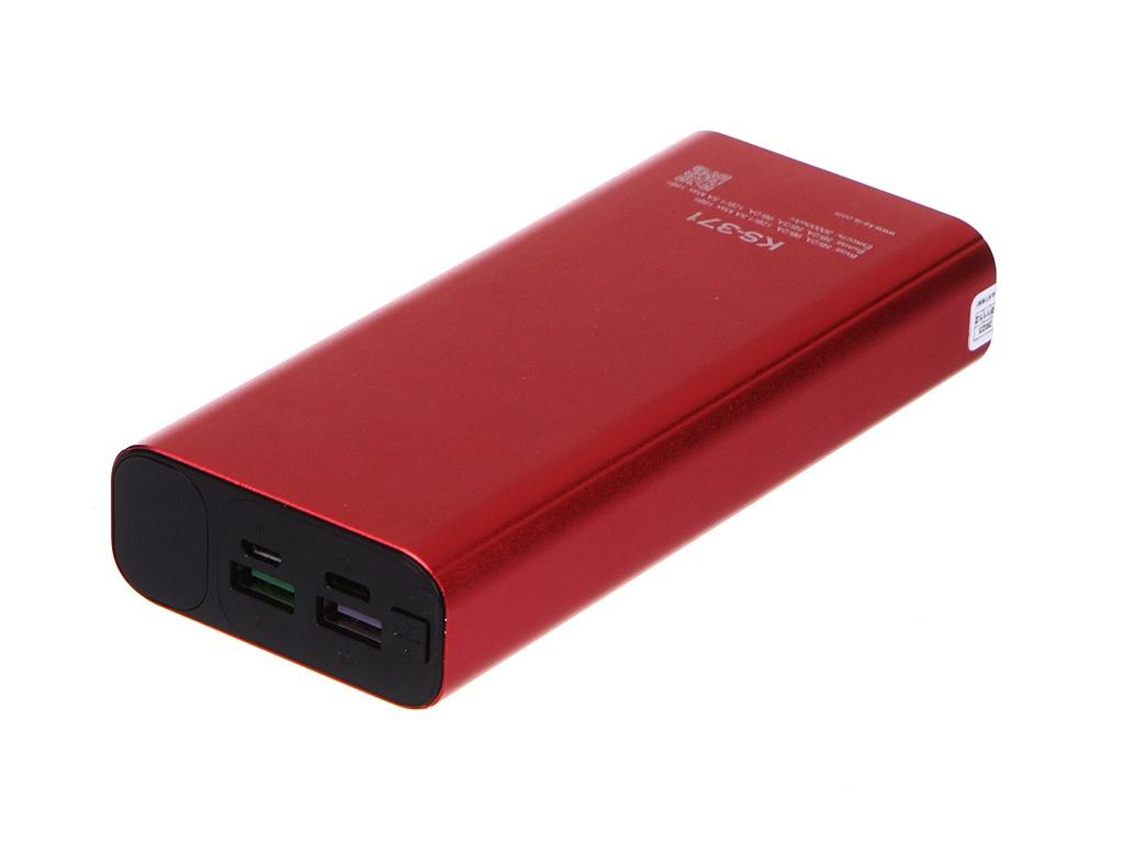 Внешний аккумулятор KS-is Power Bank KS-371 30000mAh Red
