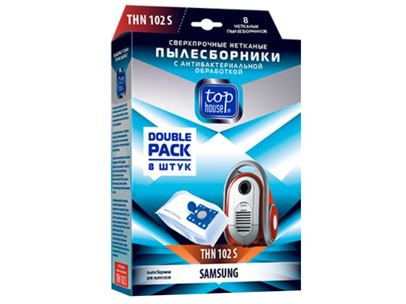 Сверхпрочные нетканые пылесборники Top House THN 102 S с антибактериальной обработкой 8шт для пылесосов Samsung 393477