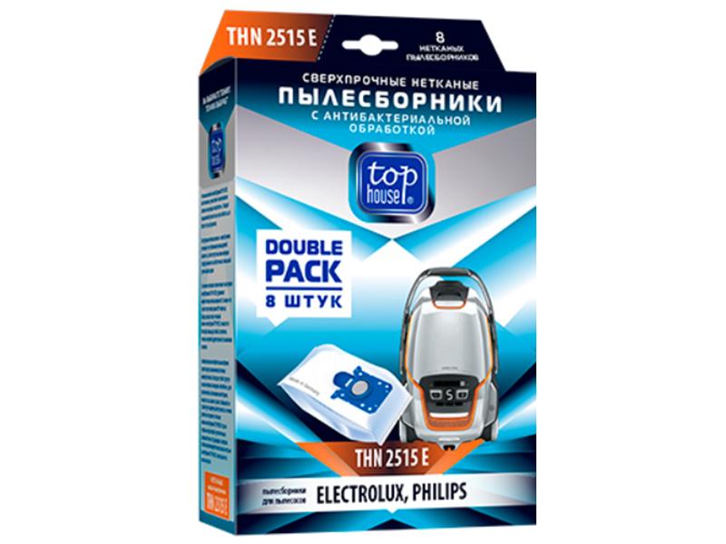 Сверхпрочные нетканые пылесборники Top House THN 2515 Е с антибактериальной обработкой 8шт для пылесосов Electrolux 393460