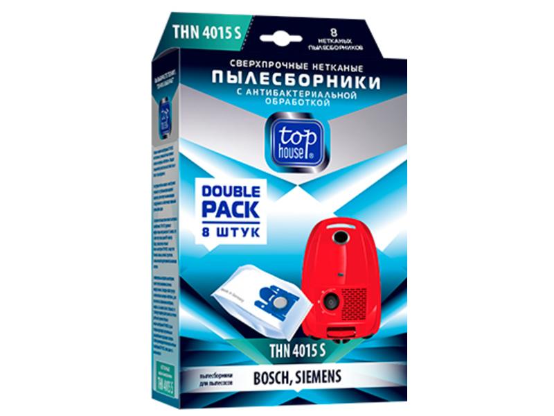 Сверхпрочные нетканые пылесборники Top House THN 4015 S с антибактериальной обработкой 8шт для пылесосов Bosch 393453