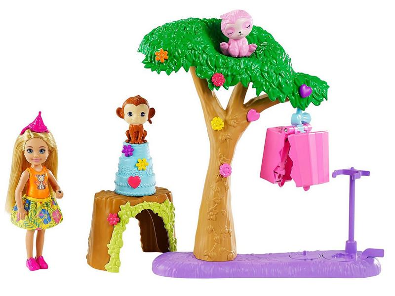 Фото - Кукла Mattel Barbie Челси с питомцами и аксессуарами GTM84 кукла mattel barbie скиппер няня в клетчатой юбке с малышом и аксессуарами grp11
