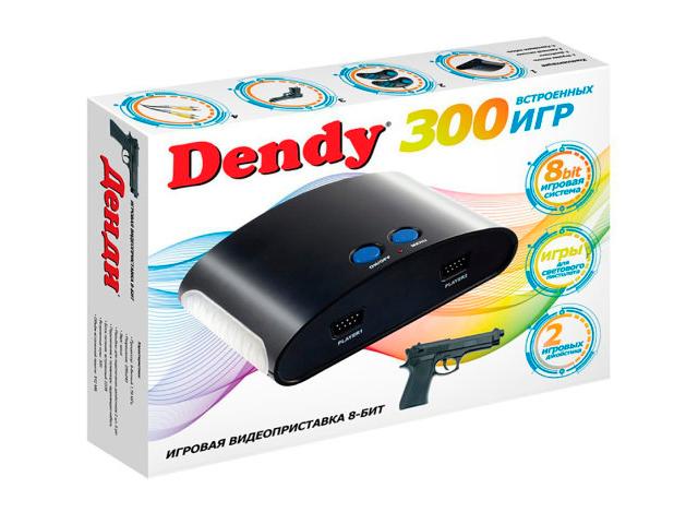 Игровая приставка Dendy 300 игр + световой пистолет