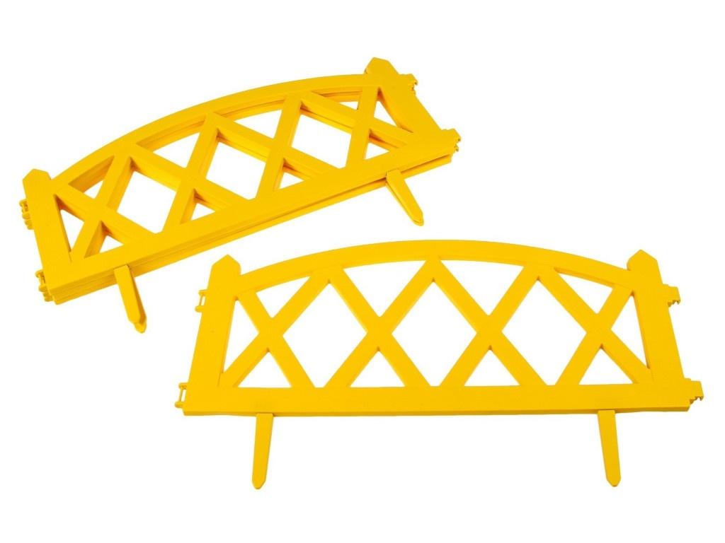Ограждение Greengo Modern 35x232cm 4 секции Yellow 3338449