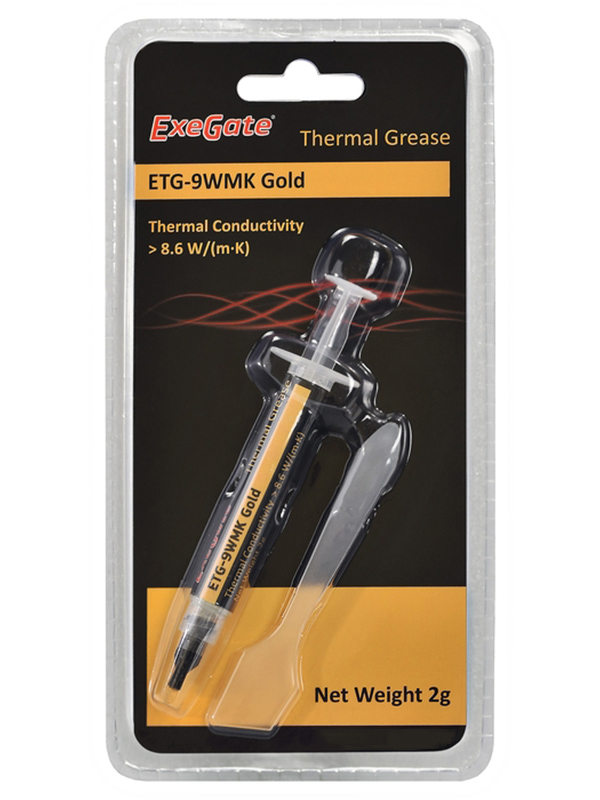 Термопаста ExeGate ETG-9WMK Gold 2g EX282342RUS