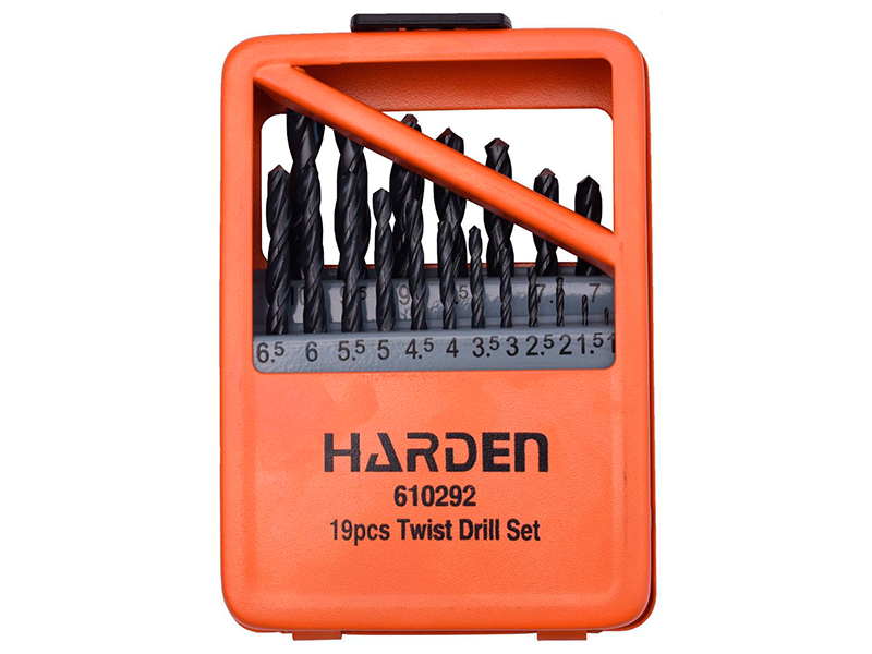 Набор сверл Harden по металлу 19шт HSS 1-10mm 610292