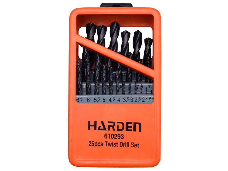 Набор сверл Harden по металлу 25шт HSS 1-13mm 610293