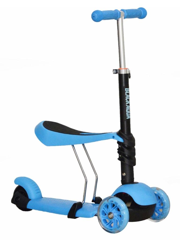 Самокат Black Aqua MG023 Blue